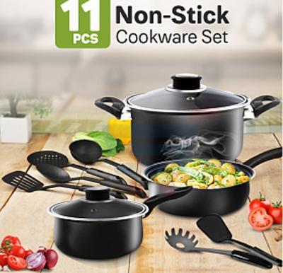 11 Pieces Cookware Set