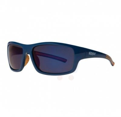 Zippo Full Frame Wrap Sunglasses Blue & Orange Polarized - OB31-02