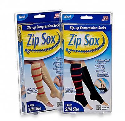 T&F Zip Sox Zip Up Compression Socks