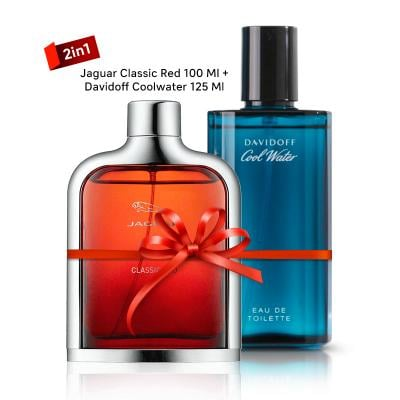 2 In 1 Mega Offer, Jaguar Classic Red 100 ml with Davidoff Coolwater 125 ml