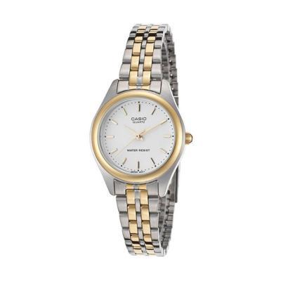 Casio Enticer Analog White Dial Womens Watch, LTP-1129G-7ARDF