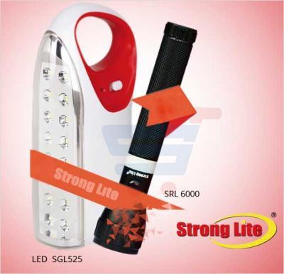 Bundle Offer! Strong Lite Rechargeable Emergency Light LED-SGL525 & Get Strong Lite LED Flash Light SRL6000 FREE
