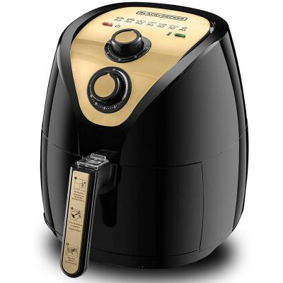 Black and Decker AF250G-B5 Air Fryer 2.5L with Rapid Air Covection Technology,  Black And Gold