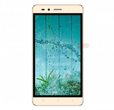 S-Color Q20 Smartphone, Android 5.1, 5.0 Inch Display, 1GB RAM, 4GB Storage, Dual Camera, Dual Sim, Gold