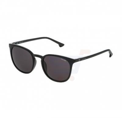 Police Round Nero Lucido Frame & Black Color Mirrored Sunglasses For Unisex - SPL343M-0Z42