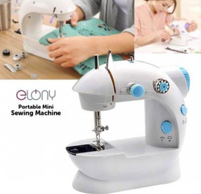 Elony Portable Mini Sewing Machine, White SM-202 A
