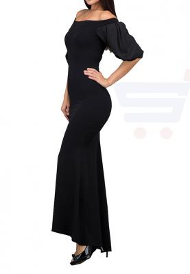 TFNC London Brandy Maxi Evening Dress Black - ANT 61870 - M