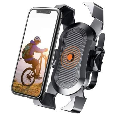 Adjustable Bike Phone Holder Case for Motorcycle, Bicycle and Stroller Handlebar Phone Stand Mount