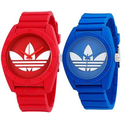 2 In 1 Adidas Santiago ADH6169 Analog Watch For Unisex, Blue And Adidas Santiago ADH6168 Analog Watch For Unisex Watch, Red