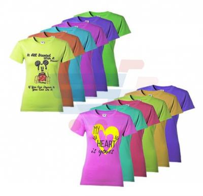 Colored T Shirt For Women 12 Pieces Set, CT 72 - XL