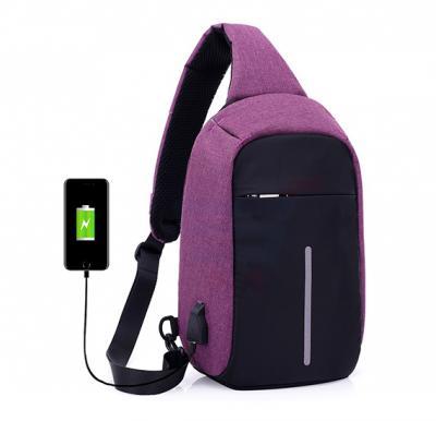 Anti-Theft USB Charging Dual Wear Way Cross Body Sling Travel Bag