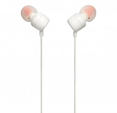 JBL In Ear Stereo Wired Headphone T110 A - White
