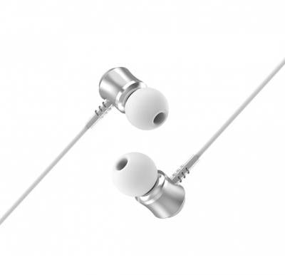Jewel sound universal earphones with microphone,Silver, M46