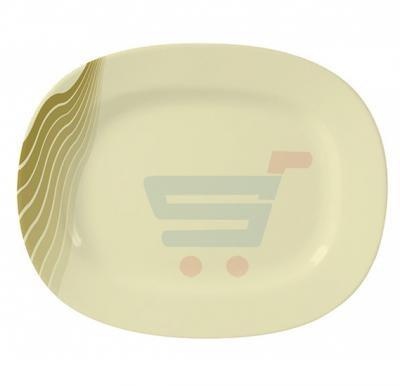 Royalford Melamine Ware 14 Inch Oval Plate AquaThai Orange - RF8126