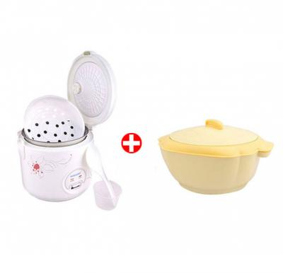 Combo Offer ! Sonashi 1 Ltr Rice Cooker  with Steamer SRC-510 & Get Sonashi 1500ml Single Casserole SCR-1500P FREE