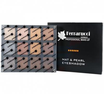 Ferrarucci Matt and Pearl Eye Shadow 54g, Multi Color