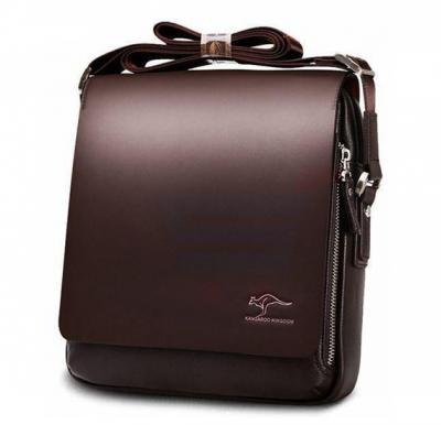 Kangaroo Kingdom Leather Messenger Bag For Men Brown