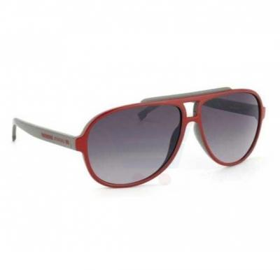 Lacoste Aviator Red / Grey Frame & Grey Mirrored Sunglasses For Unisex - L638S-615