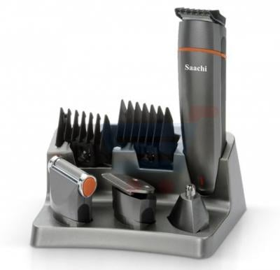 Saachi 6 in 1 Cordless Rechargeable Mens Hair Care Set Gray - 1338