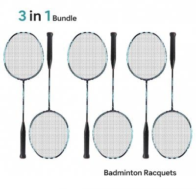 Pack of 3 Pair of Badminton Rackets RL2310