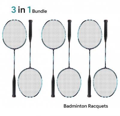 Pack of 3 Pair of Badminton Rackets RL2310