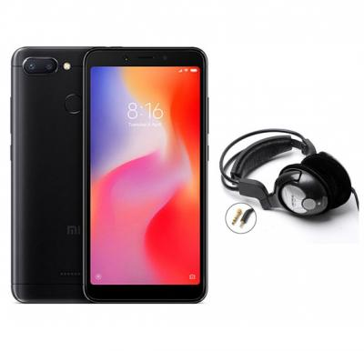 2 in 1 Bundle Offer Xiaomi Redmi 6 Mobile With Free Bass Head Phones