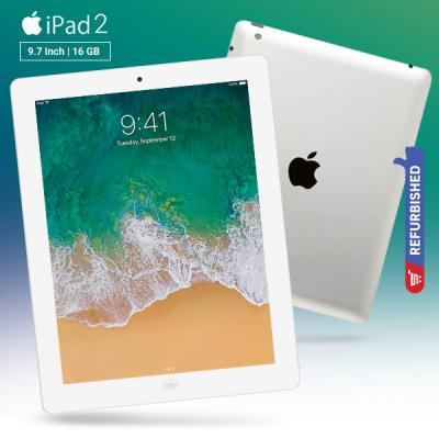 Apple iPad 2 Wifi  9.7 Inch Tablet, iOS 4, 512MB RAM, 16GB Storage, Dual Camera - Silver Refurbished