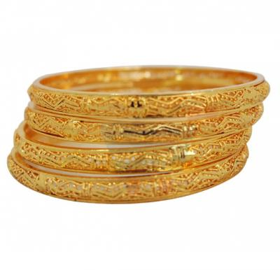 Nathasha Arts 22K Gold Plated Handmade Design Bangles 4 piece Set, 184