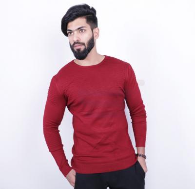 Score Jeans Mens Sweater Full Sleev Red - HF533 - M
