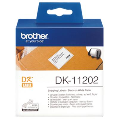 Brother DK11202 Label 62mm x 100mm Roll Black on White
