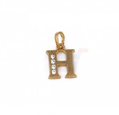 Xuping Necklace Pendant Gold Plated Letter  H