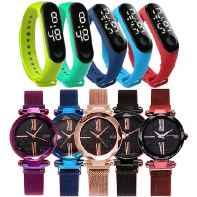 10 In 1 Dvans Stylish Watch For Women And Led Wristband Student Watch Assorted Colors