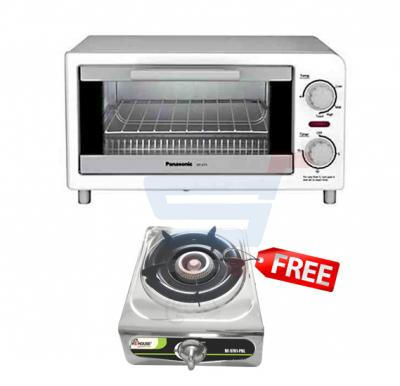 Combo Offer Buy Panasonic 9 Litre Oven Toaster NT GT1 White & Get He House Single Gas Stove HE 5701