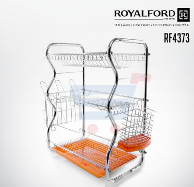 Royalford 3 Layer Dish Rack And Cutlery Holder - RF4373