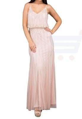 TFNC London Keeva Maxi Evening Dress Blush Pink - LNB 32670 - XL