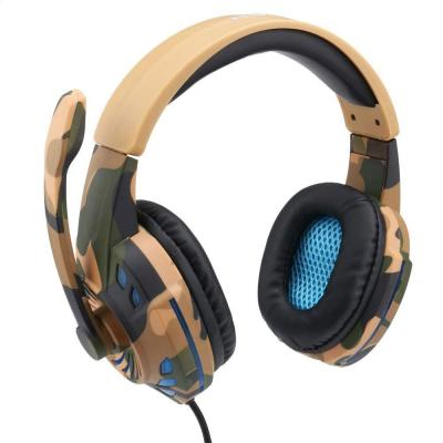 KOMC G305 Computer Headset USB Single Plug Cable Game Camouflage Internet Cafes Gaming Headset