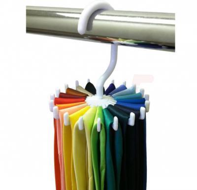Storage Holders Rotating Tie and Belt Strap Shelf Adjustable Tie Strap 20 Neck Ties Organizer