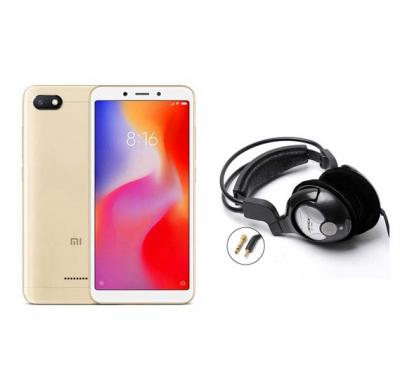 2 in 1 Bundle Offer Xiaomi Redmi 6A, 16GB, 2GB RAM Mobile With Free Bass Head Phones