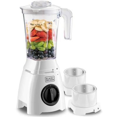 Black + Decker 400W blender with grinder mill and grater, white - BL410-B5
