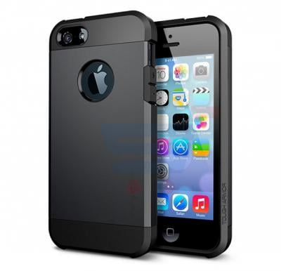 Slim Armor Case For Apple Iphone 5, 5s And SE Black