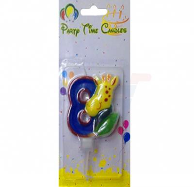 Party Time Candle animal 8 M116