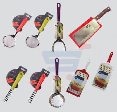 6 In 1Bundle Offer Kitchenmark 3941 Peeler, Kitchenmark Tea Strain 3943, Spoon Cherry Mark 2185, Meat Cutting Knife 5599, Spoon Flat 2178, Grater Flat Master Chip 4566