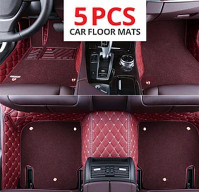 Car Floor Mat 5 Pcs Set Maroon - CM1003