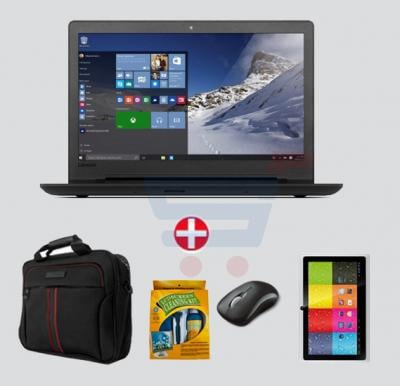 Bundle Offer! Lenovo Ideapad 110 Laptop,Celeron,4GB RAM,500GB Storage,15.6 inch Display,DOS & Get Mouse+Laptop Bag + E Pad 7 inch Tablet +LCD Cleaning Kit FREE