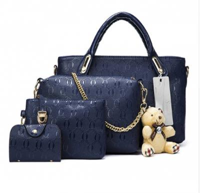 Generic 4 pcs bags set with key chain, Blue