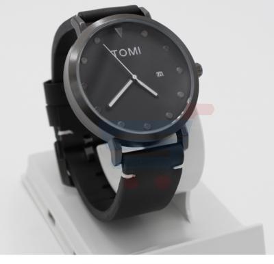 Tomi Analog Quartz Mens Watch T074, Pure Black
