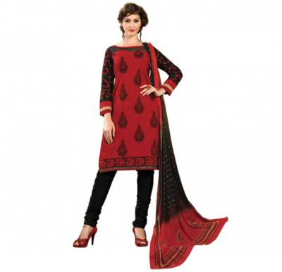 Glossy 1008 Cotton Embroidery Suit