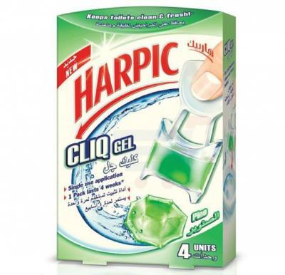 Harpic Pine Fragrance Cliq Gel Toilet Cleaner 4 Units
