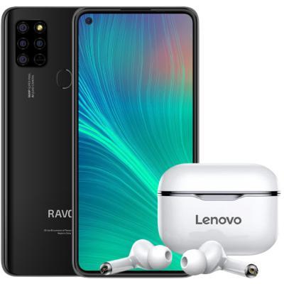 2 In 1 Ravoz Z6 Lite Dual SIM Black 4GB RAM 128GB Storage 4G LTE And Lenovo LP1 Live Pod Wireless Bluetooth Earphone