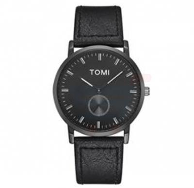 Tomi Analog Quartz Mens Watches TO73, Black